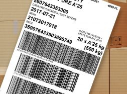 Logistics label GS1
