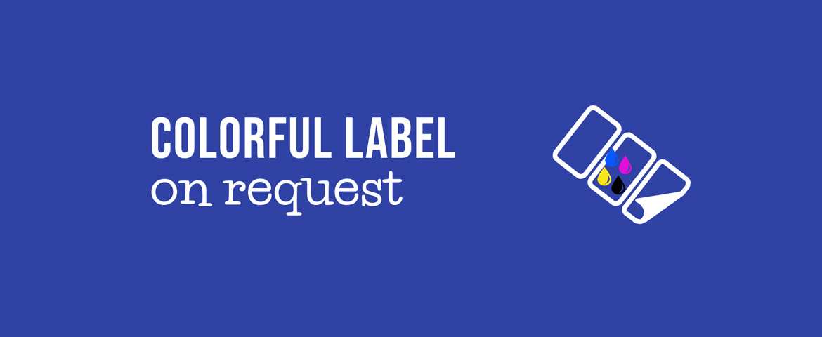 Colorful Label on request[infographics]